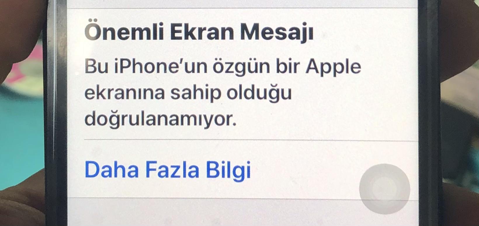 iPhone 11 Önemli Ekran Mesajı